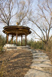 Asia China, Beijing, Zizhuyuan Park, Landscape architecture, Pavilion, Stock Photos