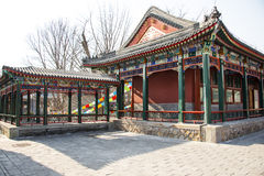 Asia China, Beijing, Zizhuyuan Park, Landscape architecture, Pavilion, Gallery Stock Photography