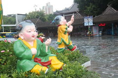 ASIA,CHINA,THE embittered doll in Shenzhen folk square Royalty Free Stock Photography