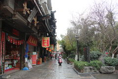 Asia china GUILIN Ancient street Stock Photography