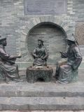 Asia,China,guilin , the three Statue of  teaing Qing officials in the park Stock Image