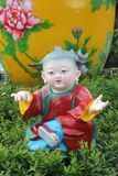 ASIA,CHINA,THE lovely porcelain dolls in Shenzhen folk square Royalty Free Stock Photos