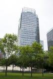 Asia, China, Pekín, distrito financiero central de CBD, negocio internacional complejo, arquitectura moderna de la ciudad Imágenes de archivo libres de regalías