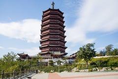 Asia China, Pekín, expo del jardín, torre de Yongding, Imágenes de archivo libres de regalías