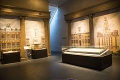 Asia China, Pekín, museo de las aduanas, sala de exposiciones interior Imagen de archivo libre de regalías