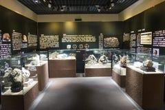 Asia China, Pekín, museo geológico, sala de exposiciones interior Fotografía de archivo