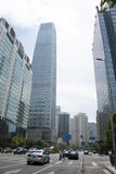 Asia, China, Pekín, negocio central de CBD, arquitectura de Œmodern del ¼ de la torre 3ï del World Trade Center de China Imagenes de archivo