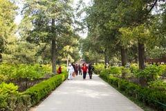 Asia China, Pekín, parque de la colina de Jingshan, paisaje del jardín de la primavera Imagen de archivo