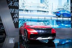 Asia China, Pekín, exposición internacional del automóvil 2016, sala de exposiciones interior, coche FV2030 del concepto de Chery Foto de archivo libre de regalías