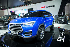 Asia China, Pekín, exposición internacional del automóvil 2016, sala de exposiciones interior, Jianghuai, coche del concepto SC5 Fotos de archivo libres de regalías