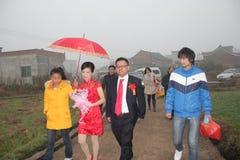 Asia, China, the rural wedding Royalty Free Stock Photo