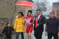 Asia, China, the rural wedding Royalty Free Stock Photography