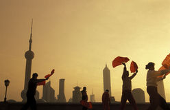 ASIA CHINA SHANGHAI PUDNONG Royalty Free Stock Photo