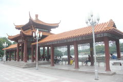 Asia,China,SHENZHEN, Ancient buildings, pavilions, corridors in the litchi park Stock Photography