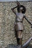 ASIA CHINA SHENZHEN Bronze statue of a man in shekou fishing port Royalty Free Stock Image
