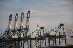ASIA CHINA Shenzhen chiwan port lifting machinery Royalty Free Stock Photo