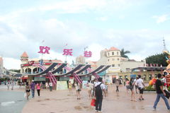 Asia,china,Shenzhen,The exit of happy valley Theme Park Royalty Free Stock Photography