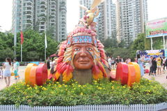 Asia,china,Shenzhen,the Indian Head statue in Happy Valley square Royalty Free Stock Image