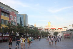 ASIA CHINA SHENZHEN SHEKOU Square Royalty Free Stock Photo