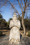 Asia China, stone carving,  military officer Royalty Free Stock Photos