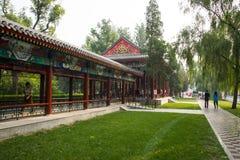 Asia China, Tianjin, parque del agua, el pasillo largo Imagen de archivo libre de regalías
