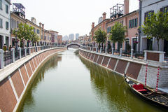 Asia China, Tianjin, Wuqing, Florence Town, features commercial leisure shopping district Stock Photography