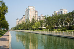 Asia China, Tianjin, Wuqing, urban residential area Royalty Free Stock Photos