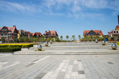 Asia China, Wuqing, Tianjin, Green Expo,South Lake Plaza landscape architecture Stock Images