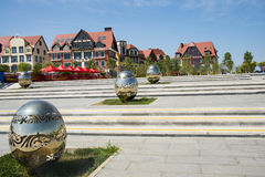 Asia China, Wuqing, Tianjin, Green Expo,South Lake Plaza landscape architecture Royalty Free Stock Photography