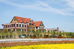 Asia China, Wuqing, Tianjin, Green Expo,European style villa Royalty Free Stock Images