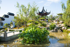Asia China, Wuqing, Tianjin, Green Expo, Garden architecture,Courtyard Royalty Free Stock Images