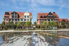 Asia China, Wuqing, Tianjin, Green Expo,Garden architecture, European style building, villa Stock Photography
