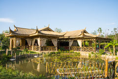 Asia China, Wuqing Tianjin, Green Expo, landscape architecture, bamboo Pavilion Stock Photography