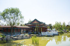 Asia China, Wuqing, Tianjin, Green Expo, landscape architecture, pavilion, Gallery Stock Photo