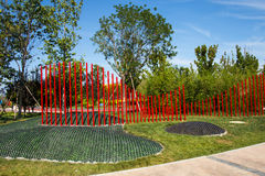 Asia China, Wuqing, Tianjin, Green Expo, the park landscape, ecodesign green Royalty Free Stock Photography