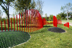Asia China, Wuqing, Tianjin, Green Expo, the park landscape, ecodesign green Stock Photo