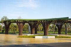 Asia China, Wuqing, Tianjin, Green Expo,Pavilion, Gallery Royalty Free Stock Photo