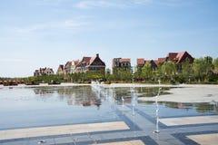 Asia China, Wuqing, Tianjin, Green Expo, Plaza, European architecture Stock Image