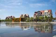 Asia China, Wuqing, Tianjin, Green Expo, Plaza, European architecture Stock Photos