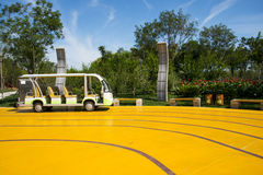 Asia China, Wuqing, Tianjin, Green Expo, Scenic sightseeing car battery Stock Photography