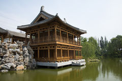 Asia, Chinese, antique buildings, pavilions, terraces and open halls Royalty Free Stock Photo