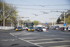 Asia, Chinese, Beijing, ancient city, traffic flow, Stock Image