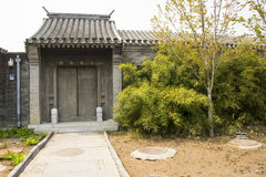 Asia Chinese, Beijing, antique building, gate Royalty Free Stock Photo