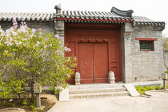 Asia Chinese, Beijing, antique building, gate Stock Images