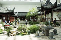 Asia Chinese, Beijing, China Garden Museum, indoor courtyard, Suzhou Jiangnan Royalty Free Stock Photography