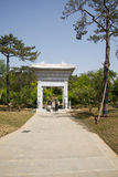 Asia Chinese, Beijing, China Garden Museum, Outdoor garden, stone arch Royalty Free Stock Image