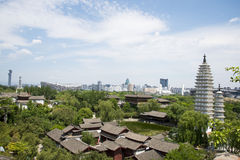 Asia Chinese, Beijing, China Minzu Yuan,Aerial view of landscape architecture, Stock Photography