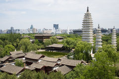 Asia Chinese, Beijing, China Minzu Yuan,Aerial view of landscape architecture, Stock Images