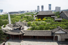 Asia Chinese, Beijing, China Minzu Yuan,Aerial view of landscape architecture, Stock Image