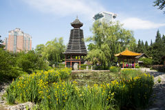 Asia Chinese, Beijing, China Minzu Yuan, architectural landscape,Drum-tower Royalty Free Stock Photography